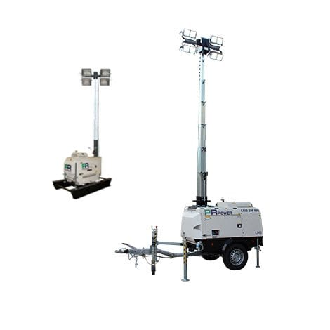 4000W Portable Lighting Tower Hire - Allcott Hire