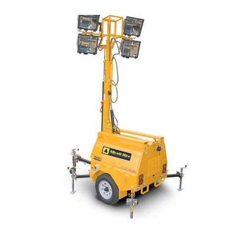 6000W Lighting Tower - Allcott Hire - Portable Lighting Hire