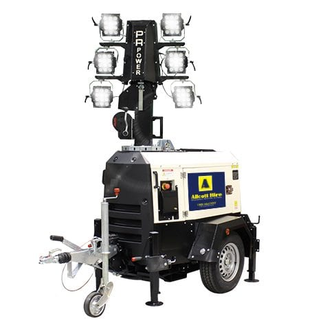 LED Lighting Tower Hire - Allcott Hire - Portable Lighting Hire